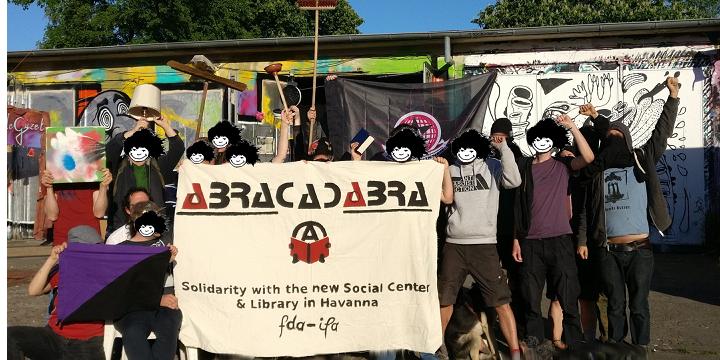 FdA Treffen Solidarity Photo for ABRA Anarchist Centre in Cuba - cropped