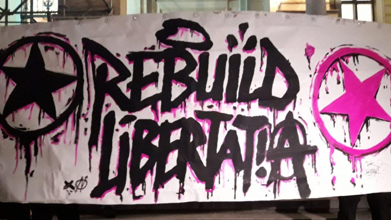Rebuild Libertatia - Thessaloniki Greece - Graffitti image