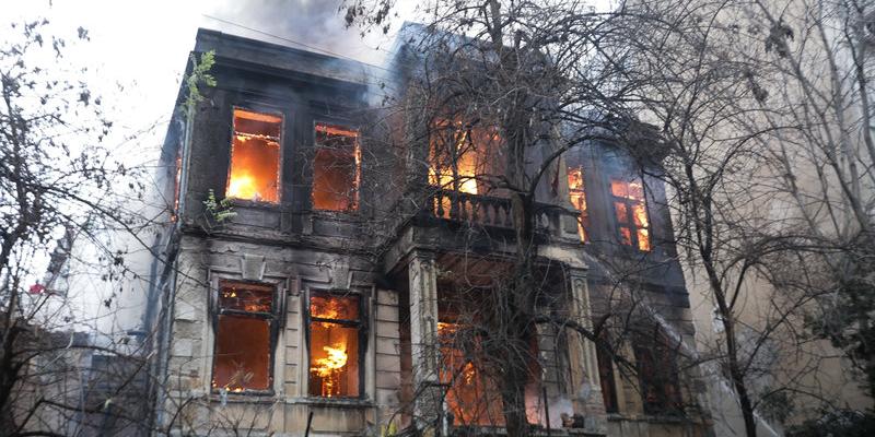 Libertatia squat fire in Thessaloniki, Greece