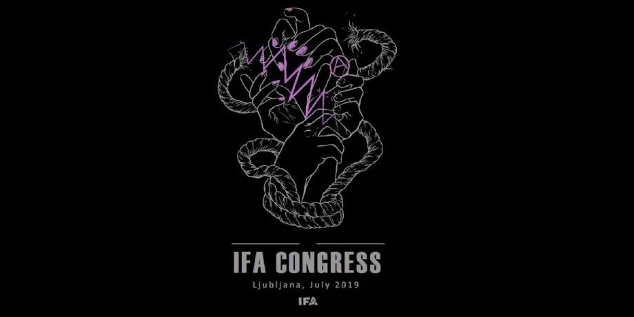 IFA international anarchist Congress in Slovenia 2019 logo