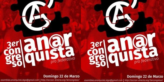 Chile 3rd Anarchist Congress Towards Federation - 22 March 2020 - event poster