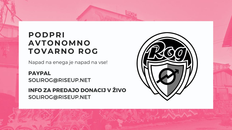Support ROG autonomous factory space in Ljubljana. podpri avtonomno tovarno ROG