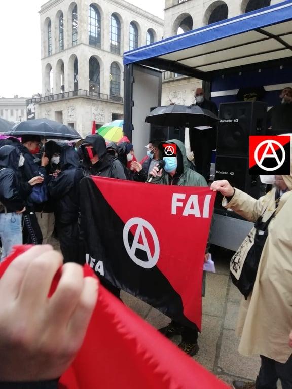 FAI May Day 2021 demo in Milan