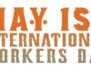 Mayday logo in words - May 1st International workers day